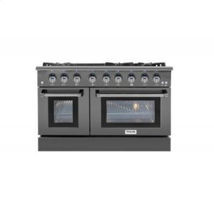 Thor Kitchen48 Inch Professional Gas Range In Black Stainless Steel