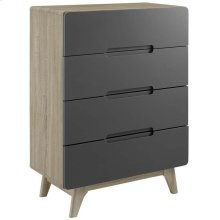 Origin Four-Drawer Chest or Stand in Natural Gray
