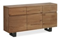 Tea Tree Live Edge Sideboard Metal Base Product Image