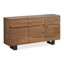 Tea Tree Live Edge Sideboard Metal Base