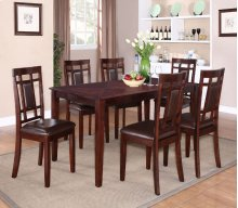 Leg Table, W/6 Chairs