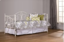 Ruby Daybed With Frame and Trundle - Textured White