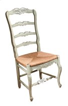 New Country French Side Chair with Rush Seat Product Image