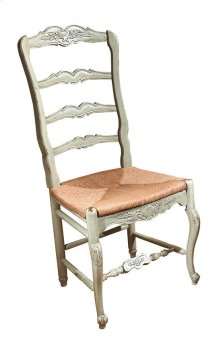 New Country French Side Chair with Rush Seat