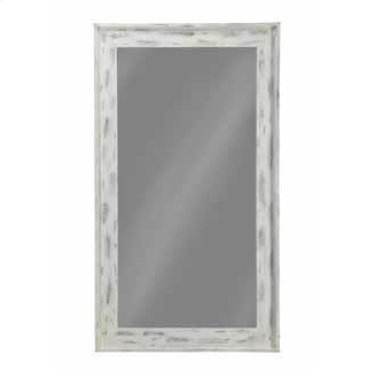 Distressed White Accent Mirror