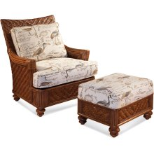 Topsail Chair and Ottoman