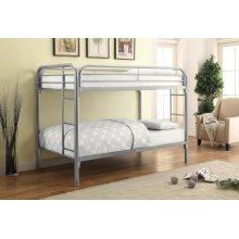 Morgan Silver Twin Bunk Bed