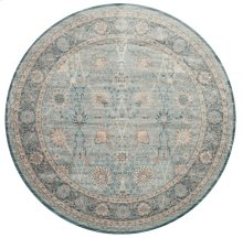 "Ella Rose Light Blue Rug - 9'-3"" X 9'-3"" Round"