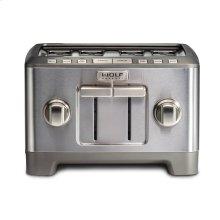 Four Slice Toaster - Red Knob - Black Knob - Brushed Stainless Knob