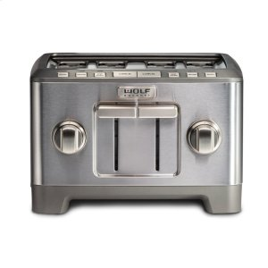 WolfFour Slice Toaster - Brushed Stainless Knob