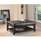 Transitional Cappuccino Button Tufted Ottoman Product Image