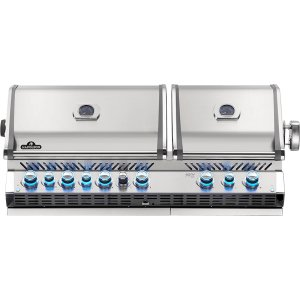 Napoleon BBQ Built-In Prestige Pro 825 Rbi Infrared Bottom & Rear Burners , Stainless Steel , Natural Gas