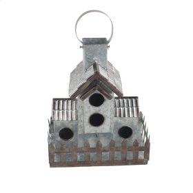 Silver Metal Birdhouse