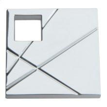 Modernist Right Square Knob 1 1/2 Inch - Polished Chrome
