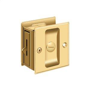 "Pocket Lock, 2 1/2""x 2 3/4"" Privacy - PVD Polished Brass"