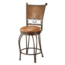 Bronze with Muted Copper Stamped Back Counter Stool