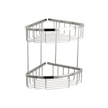 Two tier triangular basket