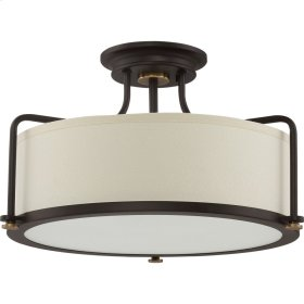 Calvary Semi-Flush Mount in Western Bronze