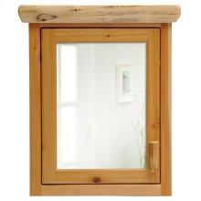 Medicine Cabinet - 27-inch - Natural Cedar - Hinge Left