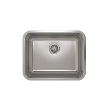 ProInox E200 Single Bowl Undermont Kitchen Sink ProInox E200 18-gauge Stainless Steel, 21'' x 16'' x 9''
