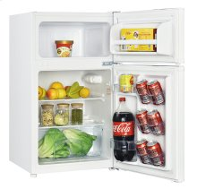 3.1 CF Two Door Counterhigh Refrigerator - White