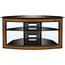 Corner-Fit Cherry Wood Trim Audio/Video System