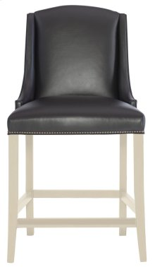 Slope Leather Bar Stool in Chalk