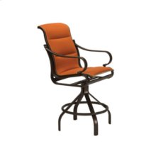 Torino Padded Sling Swivel Bar Stool