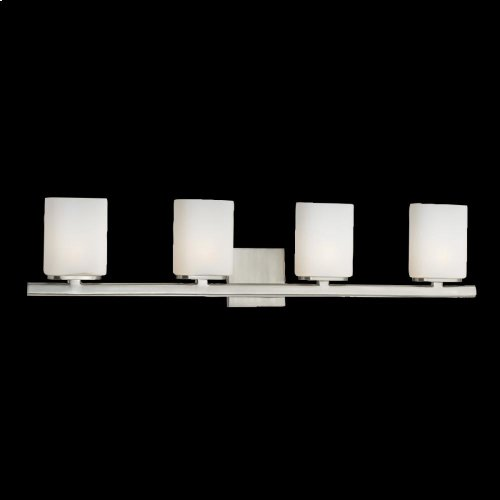 4-LIGHT BATHBAR - Satin Nickel