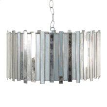 Antique Mirror Faceted Drum Pendant