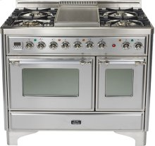 "Stainless 40"" French Top Majestic Techno Dual Fuel Range"