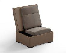 JumpSeat Ottoman, Desert Cover / Flax Seat