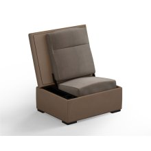 JumpSeat Ottoman, Desert Cover / Flax Seat