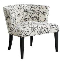 Hudson Ebony Crazy Pattern Lounge Chair