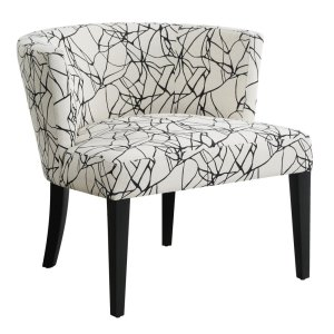 CRESTVIEW COLLECTIONSHudson Ebony Crazy Pattern Lounge Chair