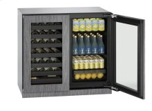 "36"" Beverage Center Integrated Frame Double Doors"