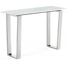 "Carlton Chrome Console Table - 48"" W x 17.5"" D x 30"" H"