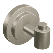 Iso brushed nickel single robe hook