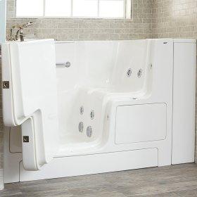 Gelcoat Premium Series 32x52 Whirlpool Walk-in Tub with Outward Opening Door, Left Drain  American Standard - Linen