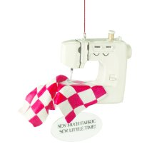 """Sew Much Fabric, Sew Little Time!"" Ornament."
