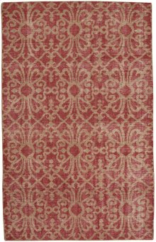 Vintage-Courtyard Red Hand Knotted Rugs