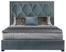 King-Sized Regan Upholstered King Bed in Espresso
