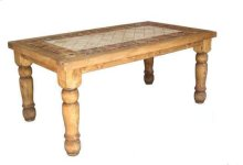 7' Rectangle Marble Table