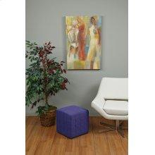 "Detour 15"" Purple Fabric Cube"
