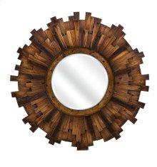 Barclay Round Wood Mirror