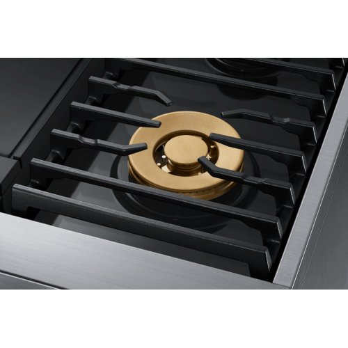 "36"" Pro Dual-Fuel Steam Range, Graphite Stainless Steel, Natural Gas/High Altitude"