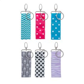 12 pc. ppk. Lipstick Key Chain & Bag Clip