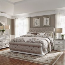 Queen Uph Sleigh Bed, Dresser & Mirror, NS