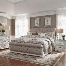 Queen Uph Sleigh Bed, Dresser & Mirror, NS