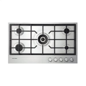 """FISHER & PAYKELNG Gas on Steel Cooktop 36"""" 5 Burner"""